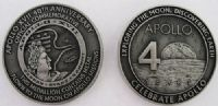 Apollo 17 40th Anniversary Medallion with Space Flown Metal